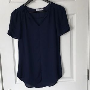 Blouse- Navy- Size 2